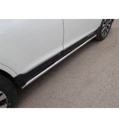 Пороги труба на Subaru Outback SUBOUT15-09