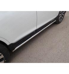Пороги труба (укороченные) на Subaru Outback SUBOUT15-17