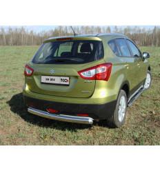 Защита задняя (овальная) на Suzuki SX4 SUZSX414-09