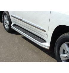 Защита порогов (аналог Lexus LX570) на Toyota Land Cruiser 200 TOYLC20012-11