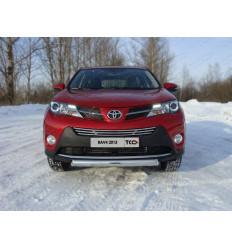 Защита передняя (овальная) на Toyota Rav 4 TOYRAV13-03