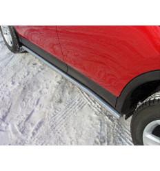 Пороги труба на Toyota Rav 4 TOYRAV13-08