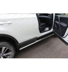 Пороги труба на Toyota Rav 4 TOYRAV15-18