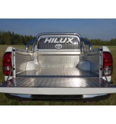 Защитный алюминиевый вкладыш в кузов автомобиля (борт) на Toyota Hilux TOYHILUX15-20