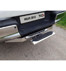 Задняя подножка овальная (под фаркоп) на Toyota Hilux TOYHILUX15-44