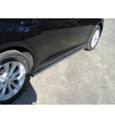 Пороги труба на Toyota Venza TOYVEN13-06