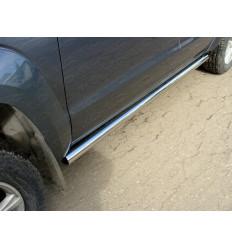 Пороги труба на Volkswagen Amarok VWAMAR10-03