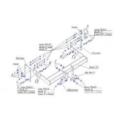 Фаркоп на Mercedes Sprinter 2250F