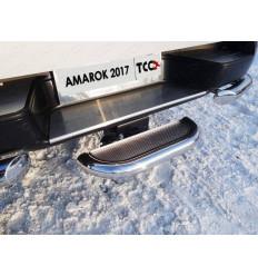 Задняя подножка (нерж. лист, под фаркоп) на Volkswagen Amarok VWAMAR17-56