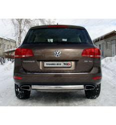 Защита задняя (центральная) на Volkswagen Touareg VWTOUAR10-04