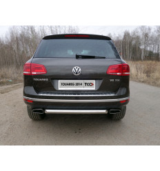 Защита задняя на Volkswagen Touareg VWTOUAR14-19