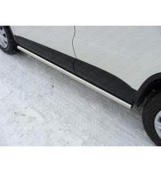 Пороги труба на Volkswagen Tiguan VWTIG11-03