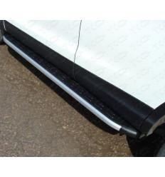 Пороги алюминиевые с пластиковой накладкой (из 2-х мест) на Volkswagen Tiguan VWTIG11-10AL