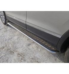 Пороги с площадкой на Volkswagen Tiguan VWTIG17-08