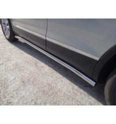 Пороги труба на Volkswagen Tiguan VWTIG17-15