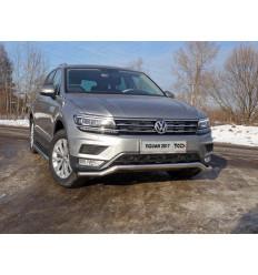 """Защита передняя нижняя (пакет """"Offroad"""") на Volkswagen Tiguan VWTIGOFR17-17"""