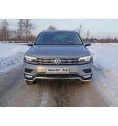"""Защита передняя нижняя (пакет """"Offroad"""") на Volkswagen Tiguan VWTIGOFR17-19"""