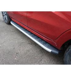 Пороги алюминиевые с пластиковой накладкой на Лада XRAY LADXRAY16-21AL