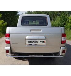 Защита задняя центральная с накладкой на УАЗ Патриот UAZPIC2016-23