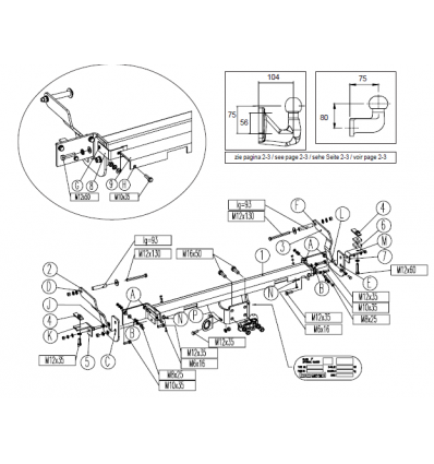 Фаркоп на Citroen Jumper 3 043-252