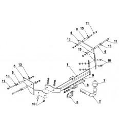 Фаркоп на Peugeot Bipper F 32