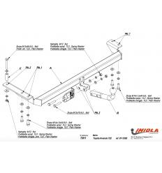 Фаркоп на Toyota Avensis T/011