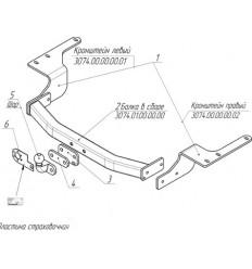 Фаркоп на Toyota Highlander 3074F