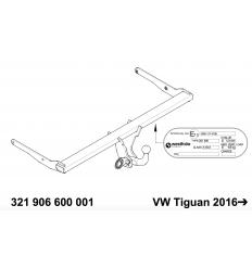 Фаркоп на Volkswagen Tiguan 321906600001