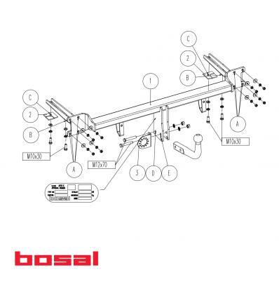 Фаркоп на Opel Astra H 027-401