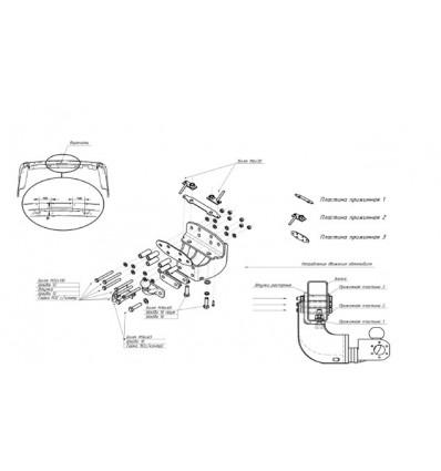 Фаркоп на Toyota Land Cruiser 200 3054F