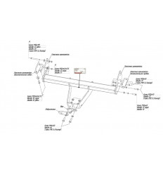 Фаркоп на Mitsubishi Pajero 4 4125F