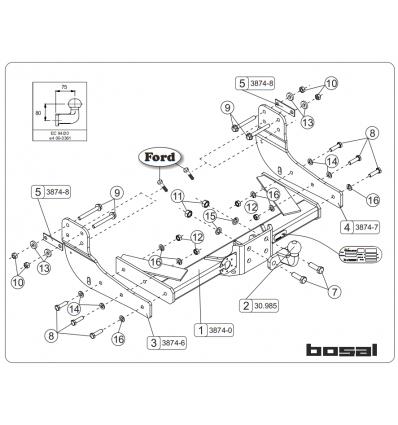 Фаркоп на Ford Transit 038-742