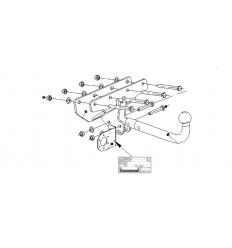 Фаркоп на Jeep Wrangler 4852A