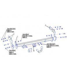 Фаркоп на Hyundai Matrix 4243A