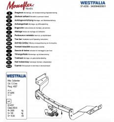 Фаркоп на Peugeot 4007 340094600001