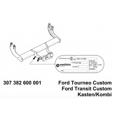 Фаркоп на Ford Tourneo Custom 307382600001