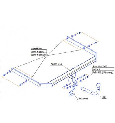 Фаркоп на Mazda 3 4529A