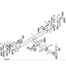 Фаркоп на Nissan X-Trail N-106