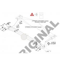 Фаркоп на Citroen C4 Picasso E1220AA