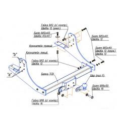 Фаркоп на ГАЗ-3302 5602F