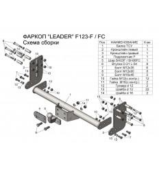 Фаркоп на Ford Transit F123-FC