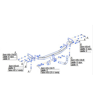 Фаркоп на Hyundai i30 6737A