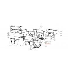 Фаркоп на Land Rover Range Rover Sport 7357-AK41