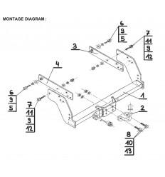 Фаркоп на Nissan NP 300 N-085