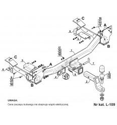 Фаркоп на Land Rover Range Rover Voque L-109