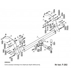 Фаркоп на Mazda BT50 F-282