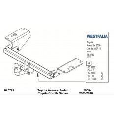 Фаркоп на Toyota Avensis 335343600001
