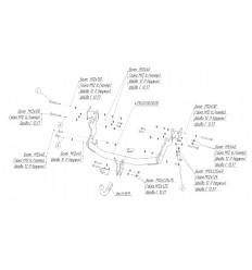 Фаркоп на Hyundai H1 Starex 4256A