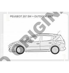 Фаркоп на Peugeot 207 E4713AA