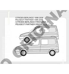 Фаркоп на Peugeot Partner E1212AS